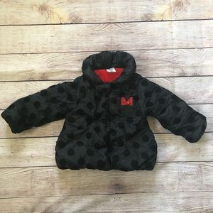 The Disney Store Minnie Mouse Puffer Coat 2T